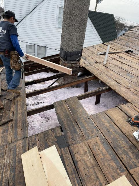 Dundalk, MD - Inspection found rotted wood so customer needed a full roof replacement.