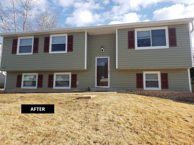 Frederick, MD - Customer needed a complete siding and window replacement