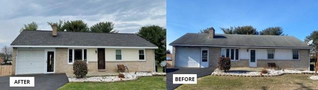Hagerstown, MD - Full replacement of roof, doors, and windows to improve efficiency and give home an updated look.