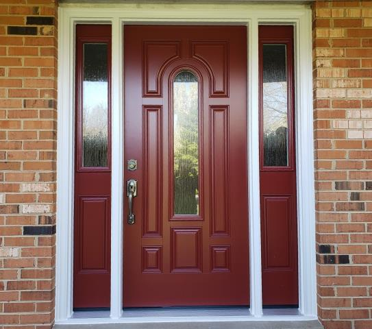 Gainesville, VA - Entry door updated replacement complete with new sidelights