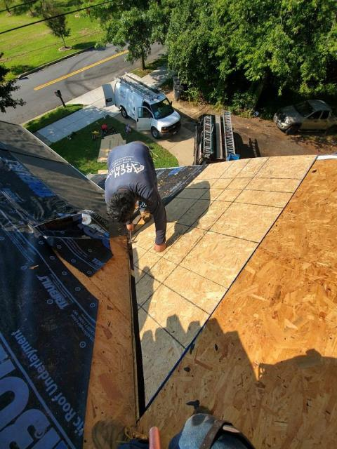 Laurel, MD - Rotted plywood replaced during full roof replacement