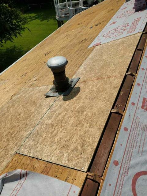 Camp Springs, MD - Damaged plywood replaced during roof replacement