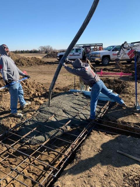 Waverly, NE - Getting footings poured for a new home for Goings Homes.