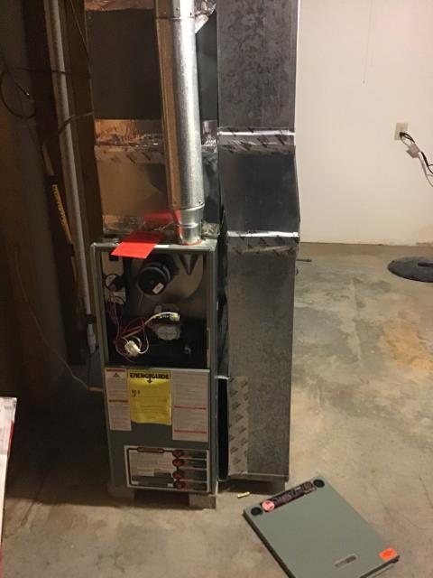 Kettering, OH - Replacing gas valve on Customer's Rheem 2009 Furnace Unit.