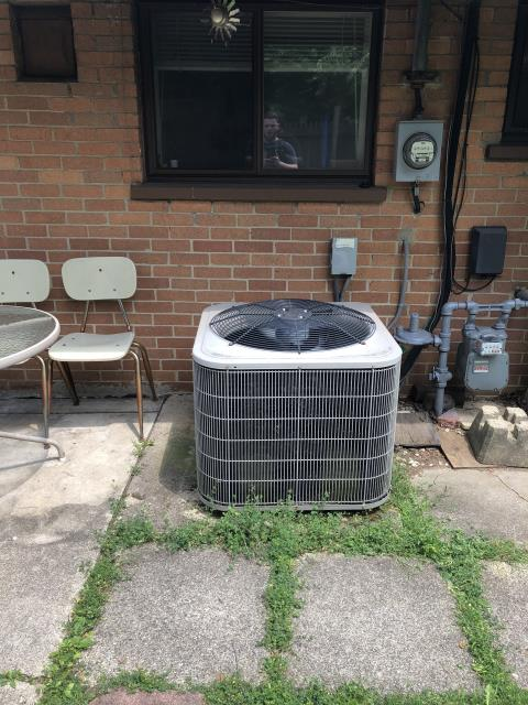 Centerville, OH - Found compressor failure on Bryant AC. Customer declined replacing the system due to finances.