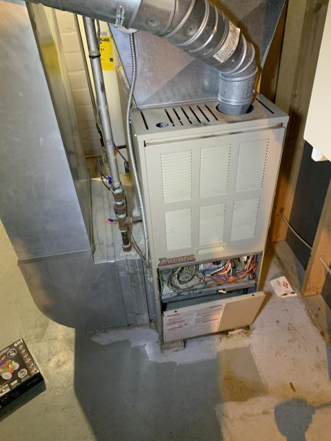 Kettering, OH - There was a Strange smell is coming from furnace. Customer had a recent water problem which has been repaired, smell is not coming from any problems with the furnace. I do however recommend having the blower motor pulled and cleaned. Further recommend having I-wave installed to help with any odors through the house.