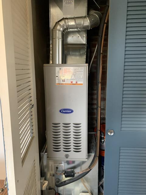 Kettering, OH - I installed a new  Carrier 80% 70,000 BTU Gas Furnace,