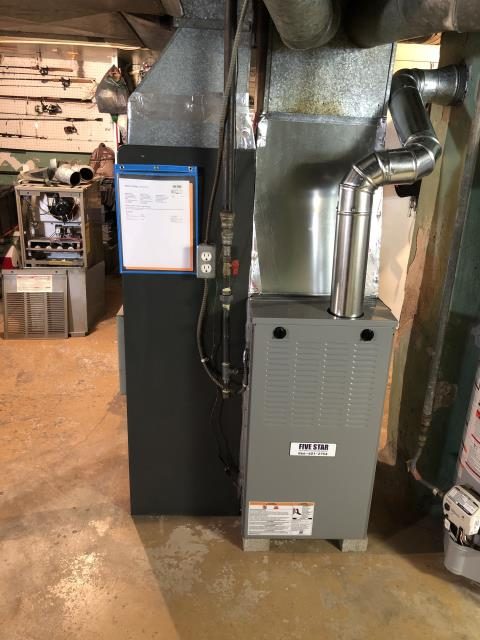 Dayton, OH - I am Performing our Five Star Tune-Up & Safety Check on a 2019 Five Star  Gas Furnace.  All readings were within manufacturer's specifications, unit operating properly at this time.
