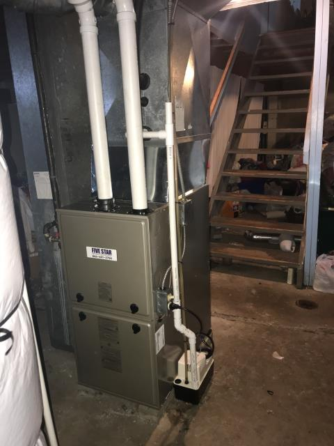 Dayton, OH - Prior to arrival power to system had been turned off. Turned power to system back on and restarted system. System ignited and began heating the residence. Sealed some gaps around the furnace and coil with silicone. System ran again this time for 30 mins with no issues.