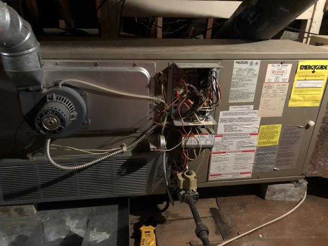 Kettering, OH - I found the thermostat was non functioning. I replaced with customer permission and cycled the system multiple times. System is operational upon departure.