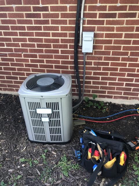 Huber Heights, OH - Upon inspection, I found the motor surge capacitor was faulty and needed changed. I informed the customer and they approved the replacement. I replaced the part and cycled the system. System is operational upon departure.