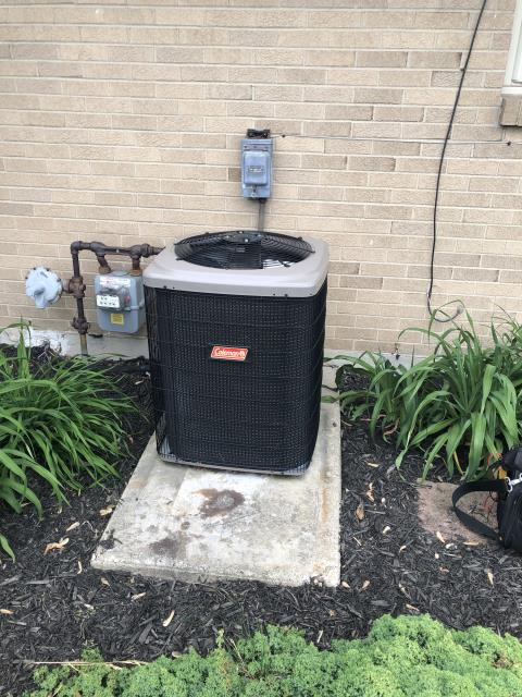 Trotwood, OH - Upon inspection, I found the system was completely out of R 22 refrigerant. I informed the customer and went over options with them. The customer has opted to purchase a new system and install. System is not operational upon departure, install is scheduled.
