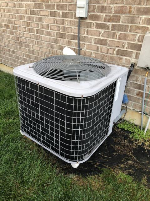 Dayton, OH - Upon inspection, I found the system was almost out of refrigerant and the compressor needed replaced. I informed the customer and went over options with them. Customer will take time to think about what they want to do and will get back with us. System is not operational upon departure.