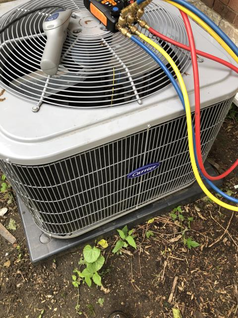 Dayton, OH - Upon inspection, I found the system had a leak in the refrigerant line and the compressor needed fixed. I informed the customer and will have the office reach out to schedule a time for us to come out and repair the system. System is not operational upon departure.