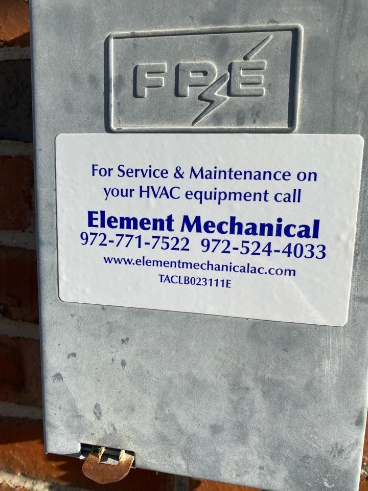 Ac maintenance.