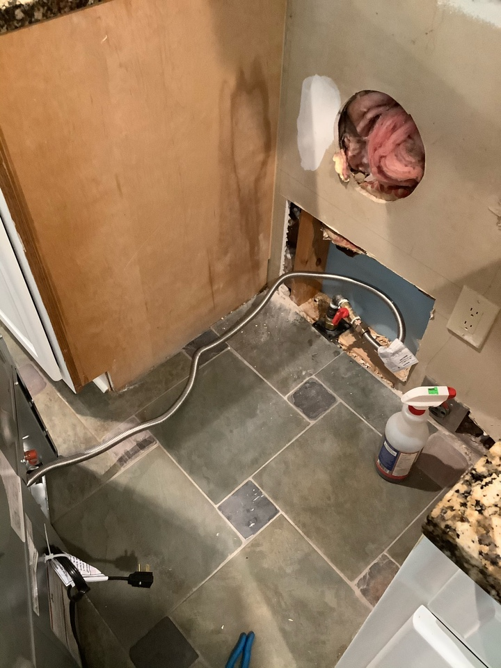 Roswell, GA - New gas line to stove