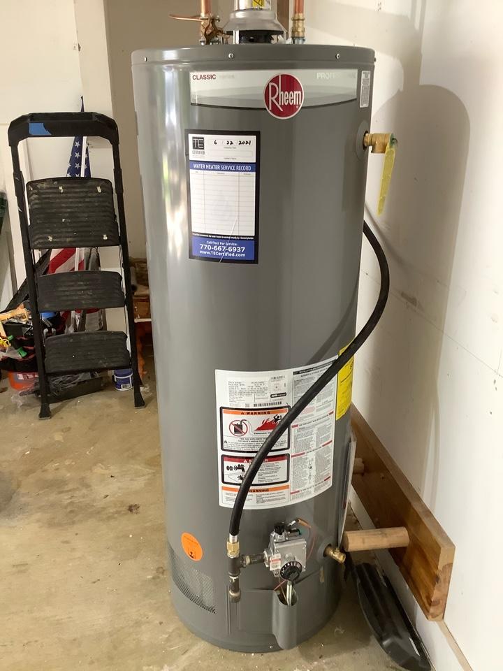 Temporary water heater install