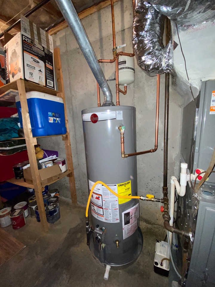 Installed new 50 gallon gas water heater.