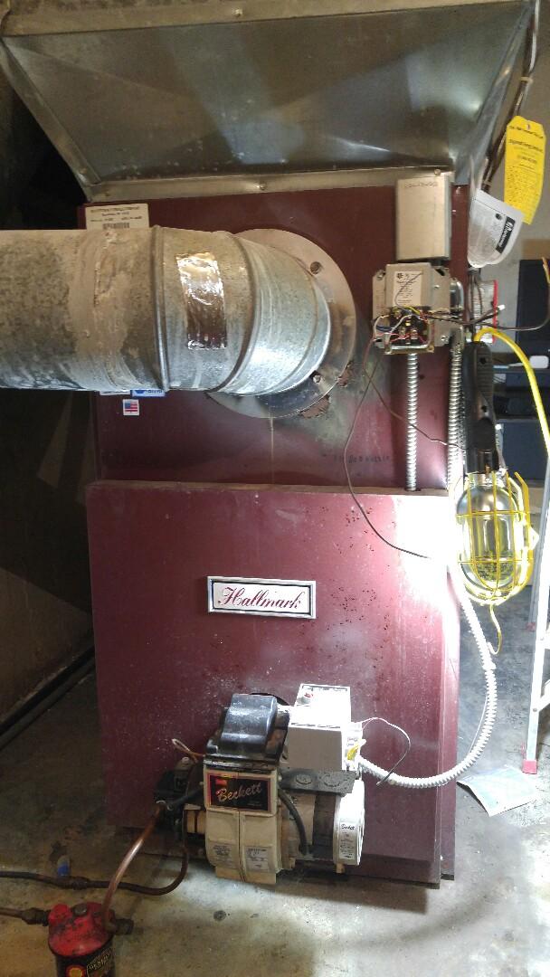 Warren, NJ - Annual tune up of a hallmark warm air furnace