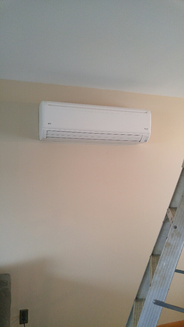 Installing a Fujitsu mini split heat and air conditioning unit