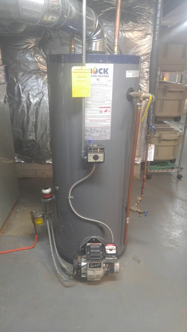 New Bock water heater installation