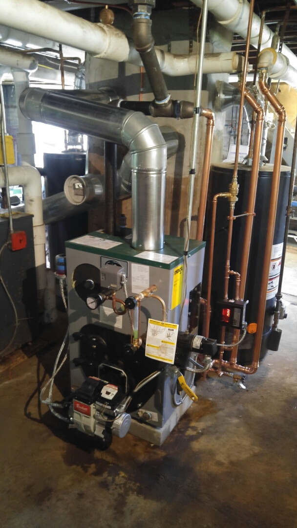 Peerless oil fired steam boiler installation