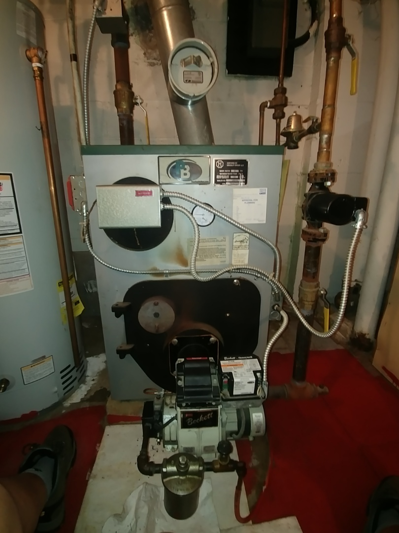 Perth Amboy, NJ - Preventative maintenance on oil fired boiler