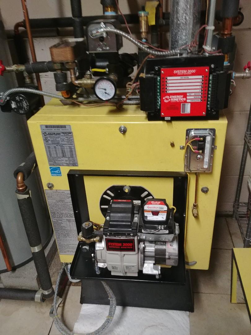 Preventative maintenance on oil fired boiler