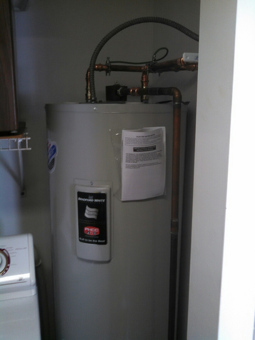 Middletown, NJ - Installed 40 gallon electric water heater.