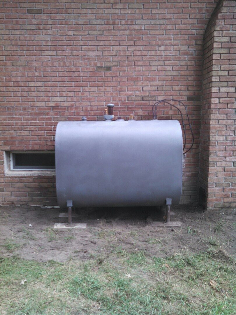Monroe Township, NJ - Releveled preexisting outside 275 gallon oil tank.