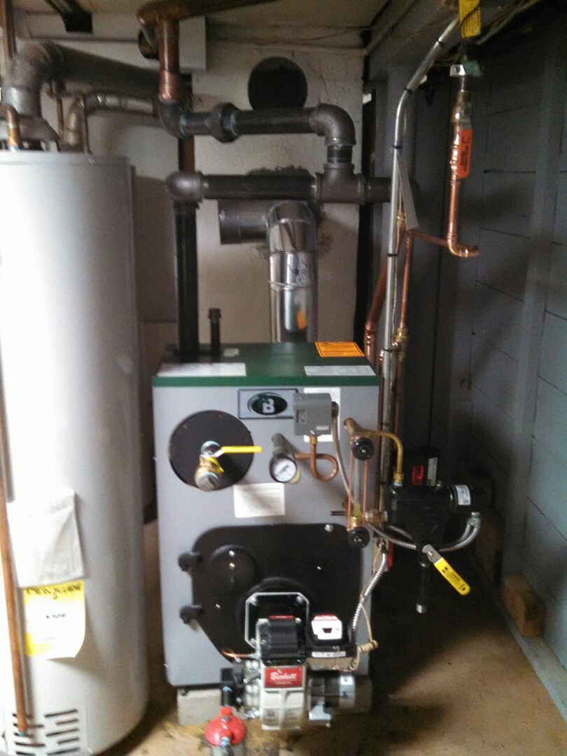 Raritan, NJ - Installed Peerless steam boiler and installed new oil line.