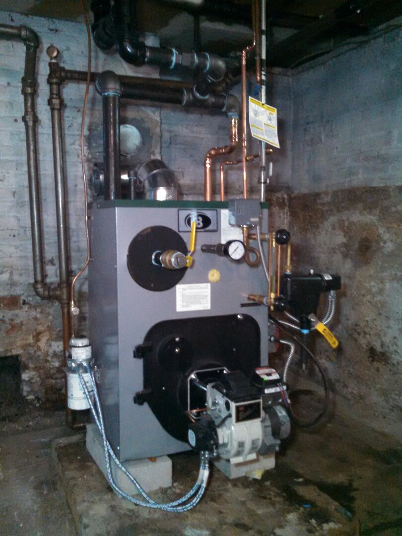 Linden, NJ - Installed new peerless steam boiler.
