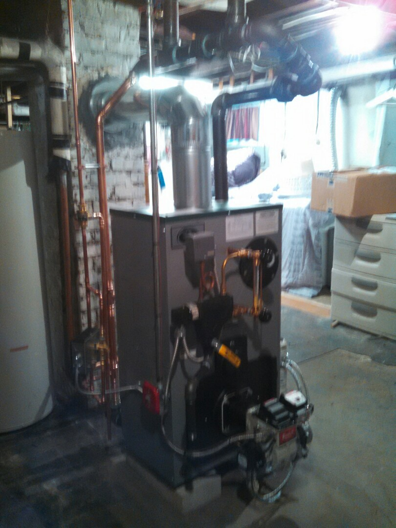 Raritan, NJ - Installed new steam boiler and oil line.