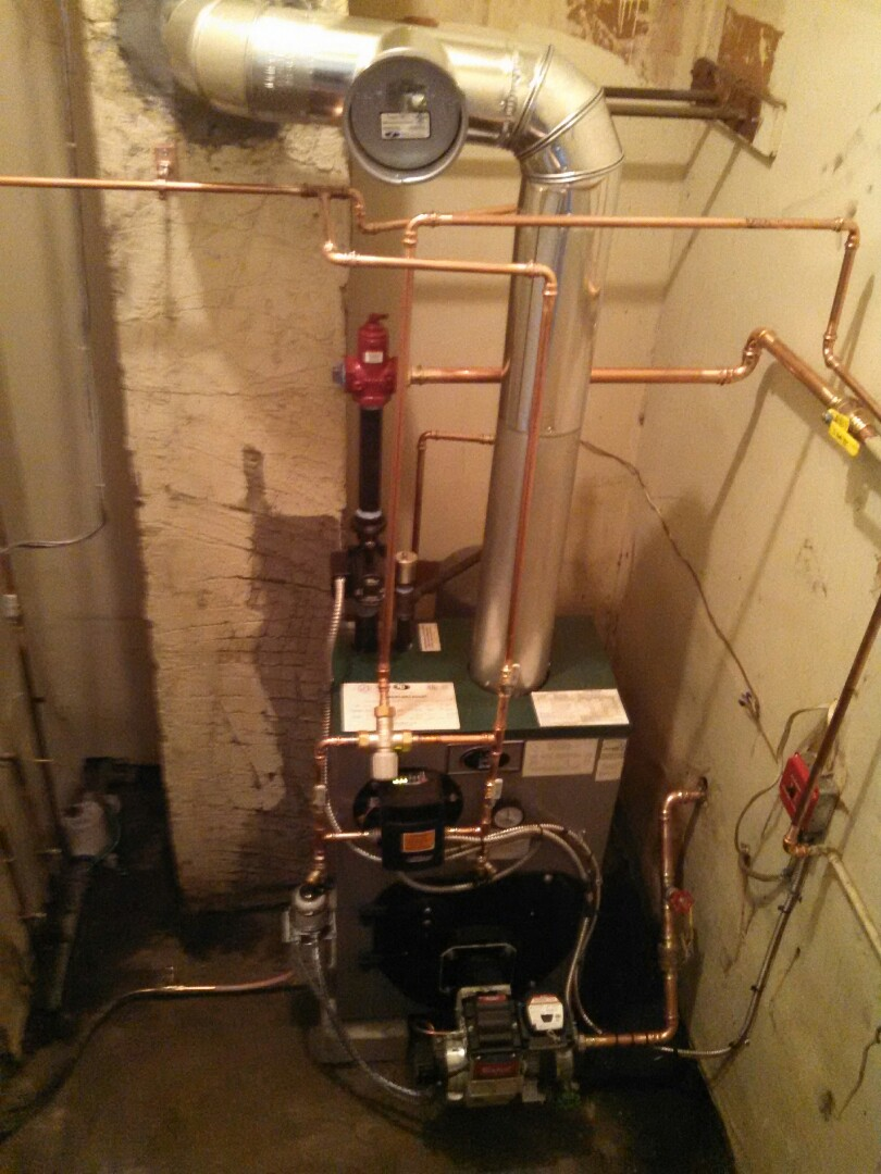 Keyport, NJ - Installed oil fired boiler water boiler