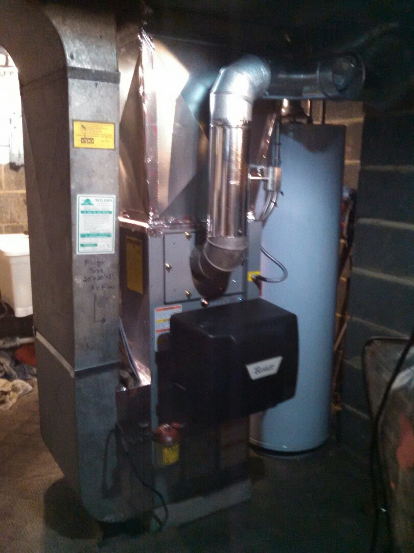 Rahway, NJ - Install new oil fired hot air furnace