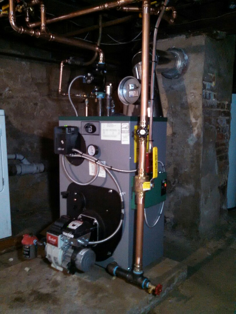 Jamesburg, NJ - Installed peerless oil fired boiler.