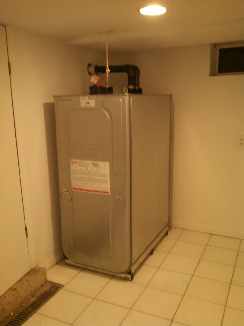 Rahway, NJ - Installed Roth 275 gallon oil tank.