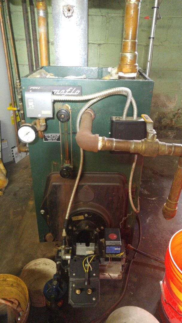Annual tune up on a thermoflo steam boiler
