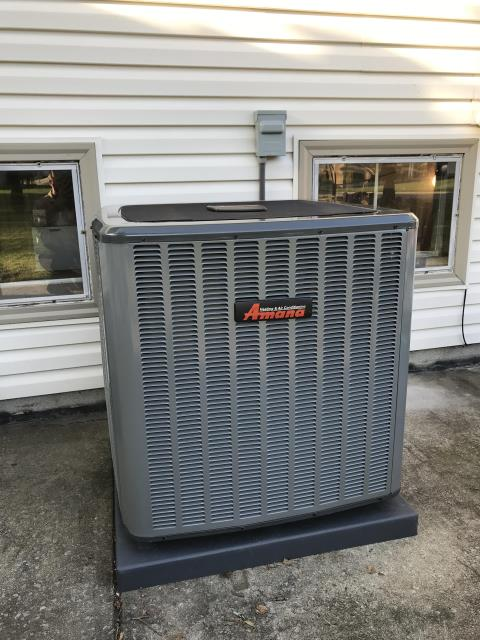 Youngstown, OH - Another Home, Warm all winter with this highly efficient, Amana furnace installation, and cool in summer with their awesome new A/C.