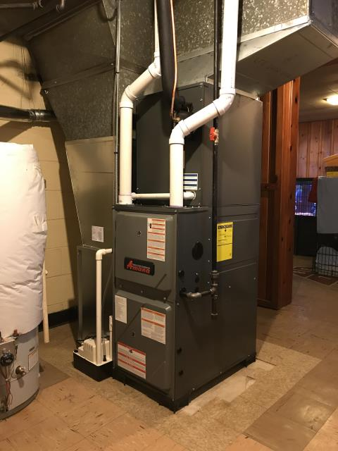 Youngstown, OH - A Home in Youngstown with a New 96% efficient furnace with 2 levels of heating plus a New up to 16 SEER efficient air conditioner with 2 levels of cooling and a Digital thermostat.