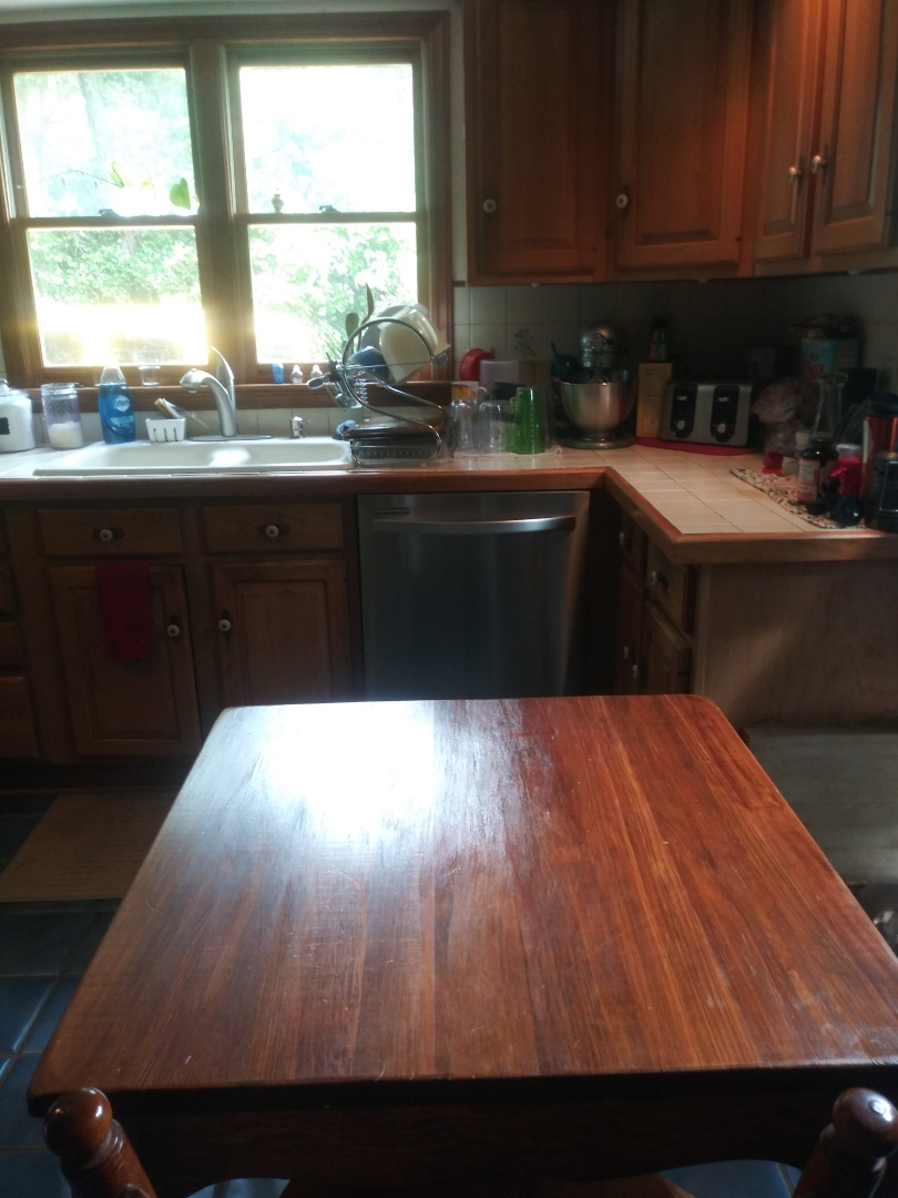The kitchen cleaning.  Clients really enjoyed coming home to a clean kitchen.