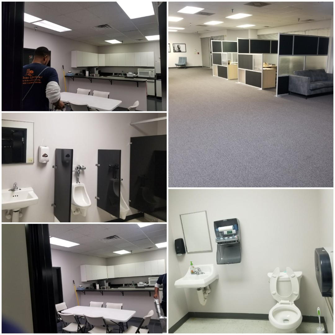 We have various crews finishing up commercial cleaning shifts tonight. We are leaving offices and buildings squeaky clean, so that office managers and building managers don't have to worry about it in the morning. Commercial cleaning near me, best office cleaners in Greensboro