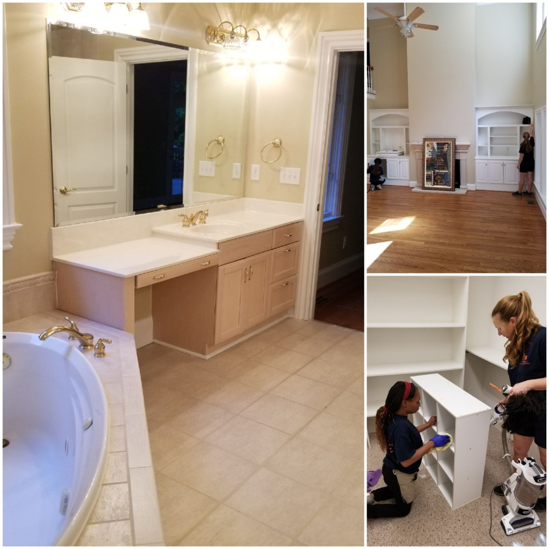 Today one of our best crews works on a 4500 sq ft home that will be a part of an estate sale. We worked diligently around the clock on the house cleaning near me, greensboro country club subdivision. We handle details like interior cabinets and drawers, we can bring some older areas back to life, and make them look new again. House Cleaning Near Me. Maid Service Near Me. Best House Cleaning in my area.