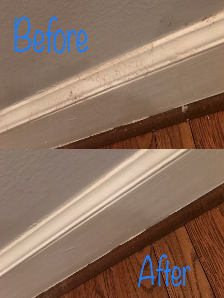 Always a good before and after to show a job worked hard!
