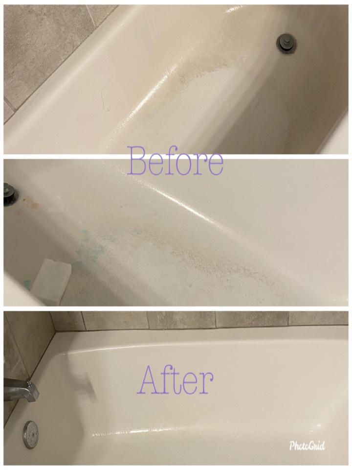 Cleaned the tub😌