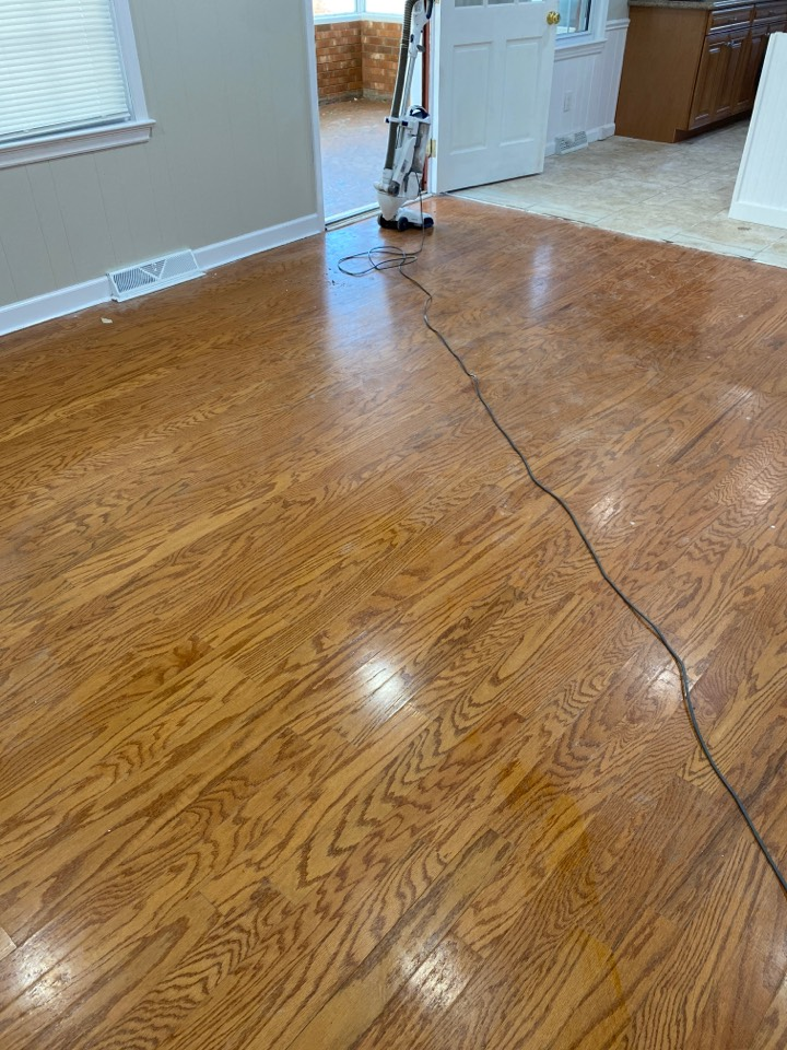 Greensboro, NC - Before and after floor cleaning
