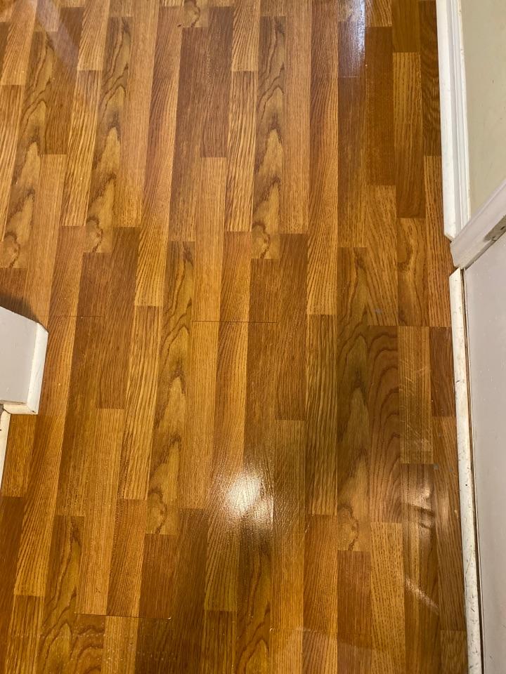 Mopped floor