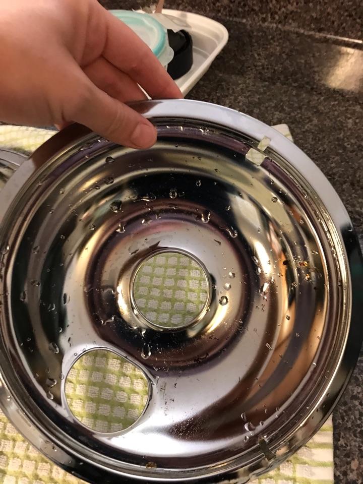 Clean drip pans!