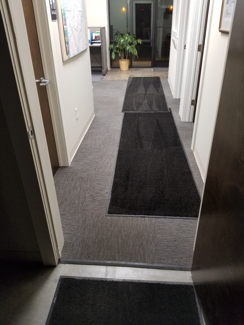 Kernersville, NC - One of my favorite accounts...another office cleaning this one is in Kernersville.  Here we clean mirrors, glass doors, vacuum, mop, disinfect bathrooms.