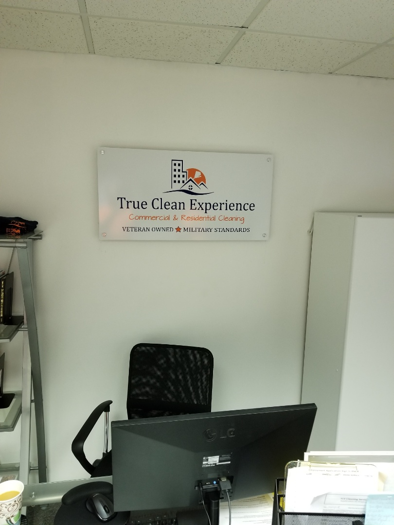 Working on scheduling and time cards at the True Clean Experience office for our cleaning techs in Greensboro